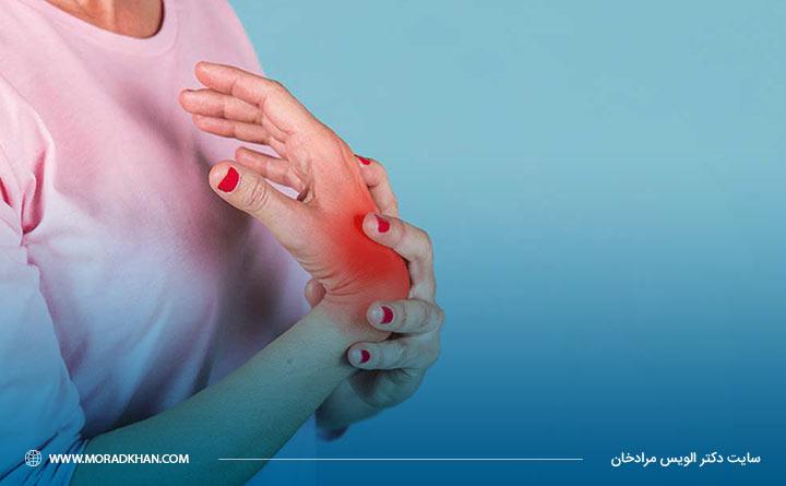 درد مچ دستها ممکن است بعلت استئوآرتروز باشد.